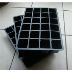 Small Image of 3x 40-Cell Seed Tray Cavity Inserts: Recycled Plastic