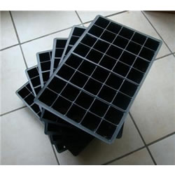 Small Image of 6x 40-Cell Seed Tray Cavity Inserts: Recycled Plastic
