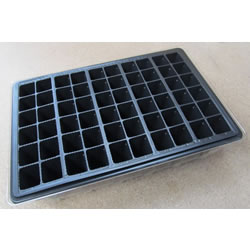 Small Image of 6x 60-Cell Seed Tray Cavity Inserts: Recycled Plastic