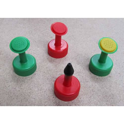 Small Image of Set of 4 Bottle Top Waterers: Great for seeds & seedlings
