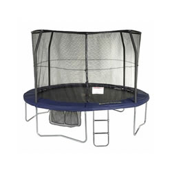 Small Image of Jumpking JumpPOD 12ft Deluxe Round Trampoline and Enclosure (JPD12)