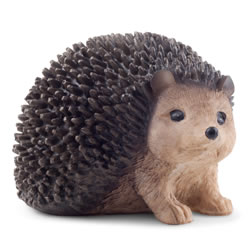 Small Image of Cute Realistic Hedgehog Garden Ornament