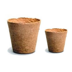 Small Image of 100 Mixed Jiffy 6cm & 8cm Peat Free Fibre Plant Pots - 50 each
