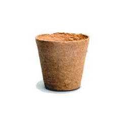Small Image of 100 Jiffy 8cm Peat Free Fibre Plant Pots: Easy transplanting, no waste