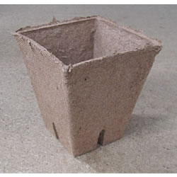 Small Image of 50 Jiffy Square Peat Free Biodegradeable Fibre Plant Pots, 9cm