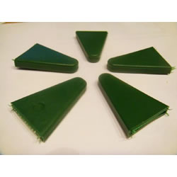Small Image of 100 Rubber Triangle Pointed Cane Caps Cane-Toppers