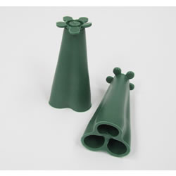 Small Image of 10 Pyramid Rubber Cane Caps Cane-toppers