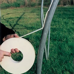 Small Image of Polytunnel Hotspot Tape: Attach to Metal Frame to Protect Polythene, 30mm x 9m