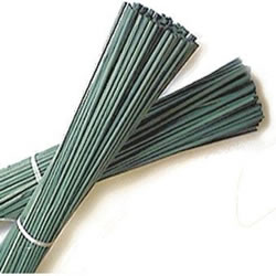 Small Image of 100 Green Flower Sticks Supports Canes Peas Broad Beans 24