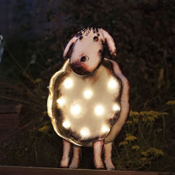 Small Image of LED Solar Powered Sheep