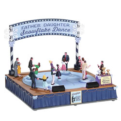 Small Image of Lemax Christmas Village - Father Daughter Dance Animated Figurines - 4.5V Adapter (74224)