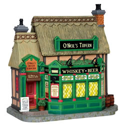 Small Image of Lemax Christmas Village - O'Neil's Irish Tavern - Battery Operated (45724)