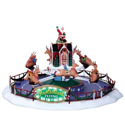 Small Image of Lemax Christmas Village - Reindeer On Holiday - 4.5V Adapter (64058-UK)