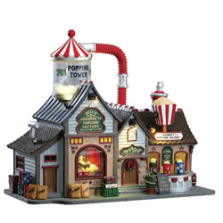 Small Image of Lemax Christmas Village - Bell's Gourmet Popcorn Factory (75188-UK)