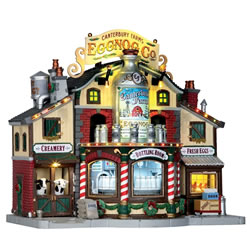 Small Image of Lemax Christmas Village - Canterbury Farms Eggnog Factory (65131-UK)