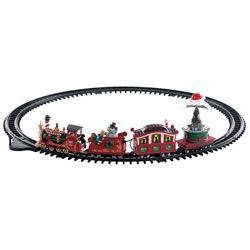 Small Image of Lemax Christmas Village - North Pole Railway - Battery Operated (74223)
