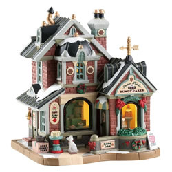 Small Image of Lemax Christmas Village - Snowflake Bundt Cakes - Battery Operated (85365)