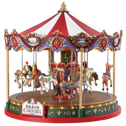 Small Image of Lemax Christmas Village - The Grand Carousel - 4.5V Adapter (84349)