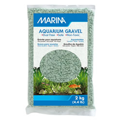 Small Image of Marina Decorative Aquarium Gravel Lime 2kg