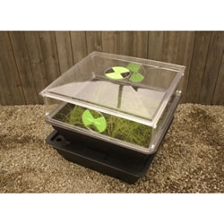 Salad & Veg Planter with Mini Greenhouse - Medium