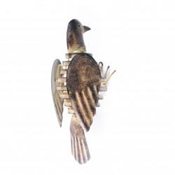 Small Image of Wall Mountable Metal Garden Bird With Flapping Wings