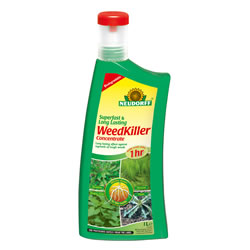 Small Image of Neudorff Super Fast Long Lasting Biodegradeable Weedkiller Concentrate, 1 litre