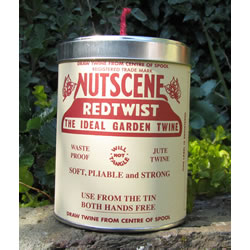 Small Image of Authentic Nutscene Tin O' Twine Jute String 150m:Red