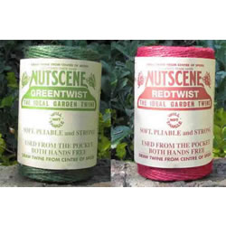 Small Image of 2 Rolls 120m Nutscene Jute Twine Red & Green Heritage Spool 3-Ply Tangle Free