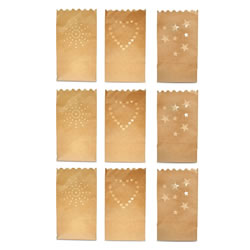 Small Image of Three Pack Set of Flame Retardant Paper Tealight / Candle Bags (9)