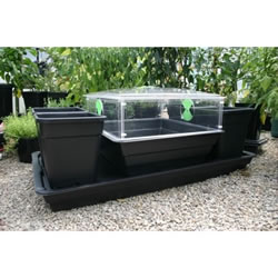 Patio Allotment Planter with Mini Greenhouse