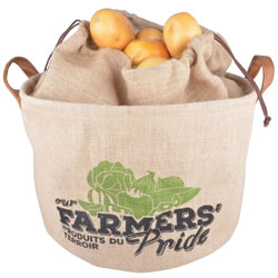 Small Image of Fallen Fruits Hessian Potato Drawstring Storage Bag
