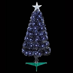Small Image of Premier 80cm Black Slim Christmas Tree With White LEDs (FT183123)