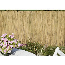 Small Image of 1m tall x 5m long reed screening fence - for gardens, balconies, shade etc