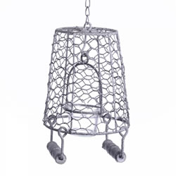 Small Image of Rustic Hanging Metal Bucket Single Tealight Holder