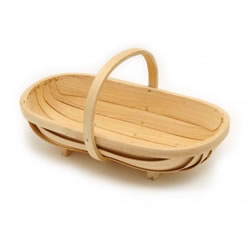 Small Image of Burgon & Ball Traditional Wooden Trug/ Basket - Medium
