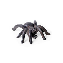 Small Image of Small Vintage Cast Iron Tarantula Wall Mountable Spider Ornament