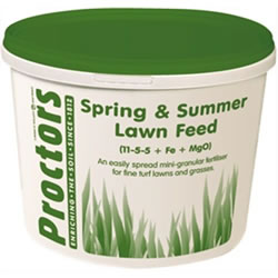 Small Image of 5kg tub of Proctors Spring and Summer Lawn grass feed fertiliser moss killer