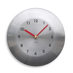 Small Image of Round Stainless Steel Wall Mountable Garden Wall Clock