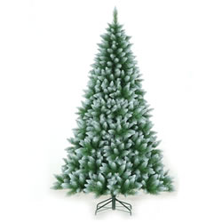 Small Image of Classics 1.8m (6ft) Green Frosted Allison Spruce Artificial Christmas Tree (72-554-421F)
