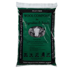 Small Image of Dalefoot Wool Compost for Vegetables and Salads Peat Free 30 litres