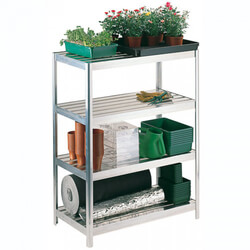 Small Image of Versatile Shelving 122cm high - 91.5cm long - 30.5cm wide complete with aluminium slats