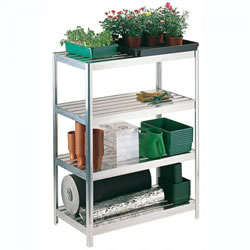 Small Image of Versatile Shelving 122cm high - 76cm long - 30.5cm wide complete with aluminium slats