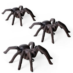 Small Image of 3 Large Wall Mountable Vintage Finish Cast Iron Tarantula Ornaments