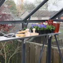 Small Image of Modular Greenhouse Shelving with Aluminium Tray