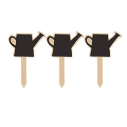 Small Image of Watering Can Design Wooden Blackboard 4.5in Garden Labels