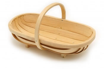 Image of Burgon & Ball Traditional Wooden Trug/ Basket - Medium