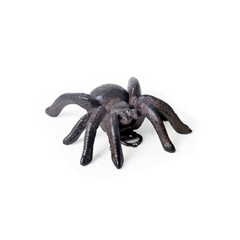 Image of Small Vintage Cast Iron Tarantula Wall Mountable Spider Ornament