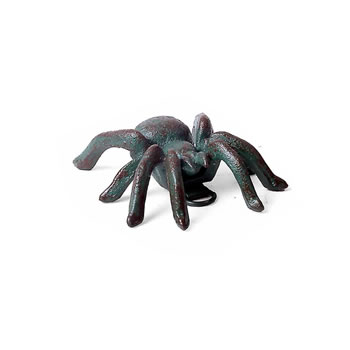 Image of Small Wall Mountable Cast Iron Verdigris Tarantula Spider Ornament