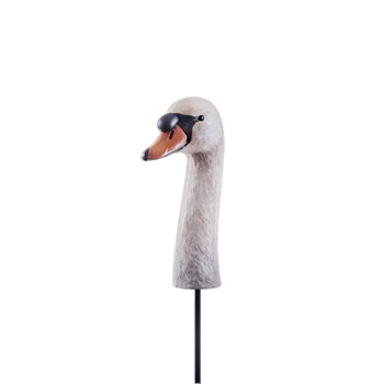 Image of Realistic Swan Head Garden Ornament on a Stake