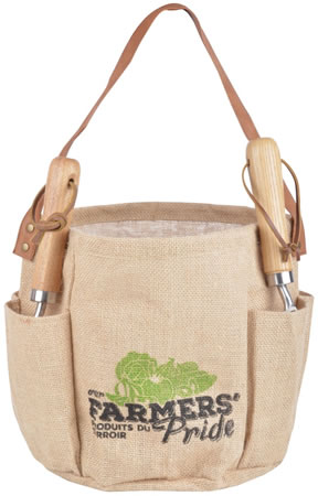 Image of Fallen Fruits Round Garden Hessian Tool Bag